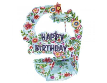 Biglietto Happy Birthday Fiori